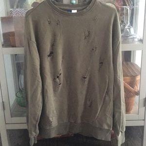 Destroyed women's sweatshirt